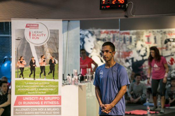 Foto LaPresse -Stefano De Grandis 03/02/2018  Milano Hard Candy Fitness, palestra p.zza Repubblica RCS sport allenamenti run4me