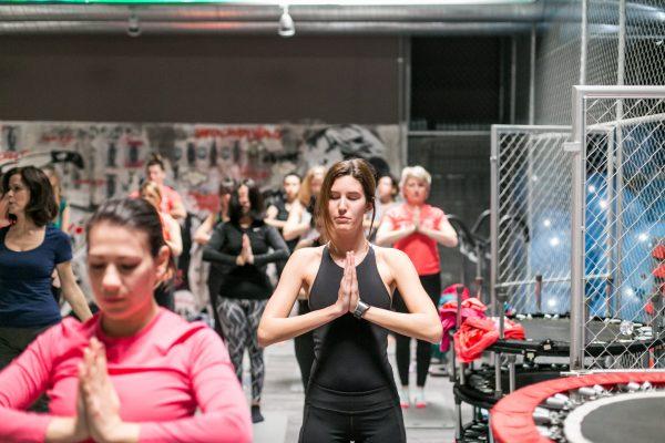 Foto LaPresse -Stefano De Grandis03/02/2018  MilanoHard Candy Fitness, palestra p.zza RepubblicaRCS sportallenamenti run4me