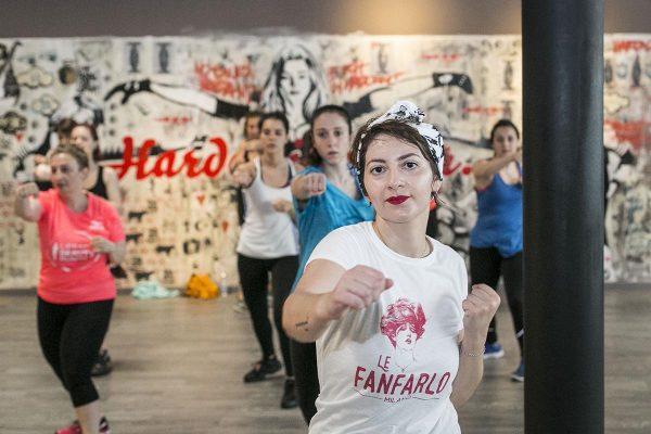 Foto LaPresse -Stefano De Grandis 12/05/2018  Bologna città ( italy )  Lierac  beauty run 2018   allenamento piazza repubblica palestra