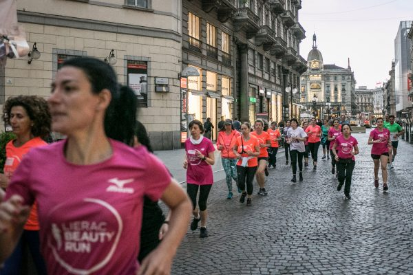 Foto LaPresse/Stefano De Grandis26/04/18 MilanoAllenamento Lierac per Beauty RunPresso Banca Intesa piazza cordusio
