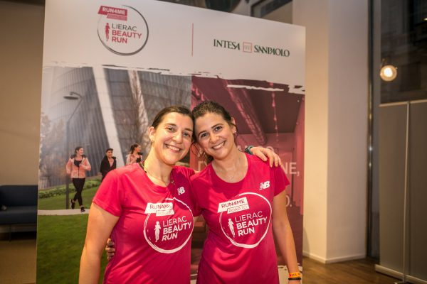Foto LaPresse/Stefano De Grandis 26/04/18 Milano   Allenamento Lierac per Beauty Run Presso Banca Intesa piazza cordusio