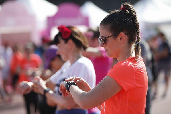 Foto LaPresse - Spada09 Giugno 2018 - Arena Civica , Milano (Italia)  Lierac Beauty Run 2018 Sport Nella foto: fitbit cardioPhoto LaPresse - SpadaJune 09  , 2018 Milan  (Italy )  Sport Lierac Beauty Run 2018 In the pic: fit bit